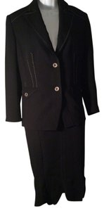 Marc Aurel Women's Black Skirt Suit Size Black Size 10
