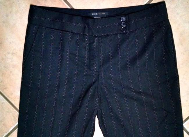 BCBGMAXAZRIA Pin Striped Dress Trouser Pants Black