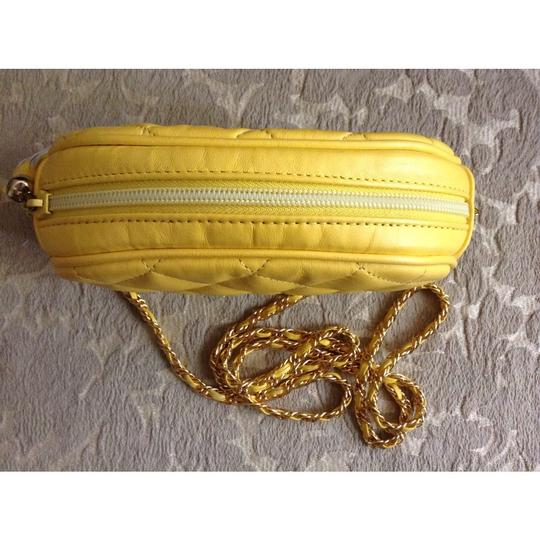 L.J.Simone Leather Tassels Chain Quilted Cross Body Bag