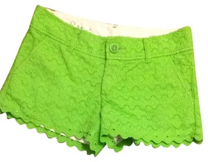 Lilly Pulitzer Shorts Green Scalloped Eyelet