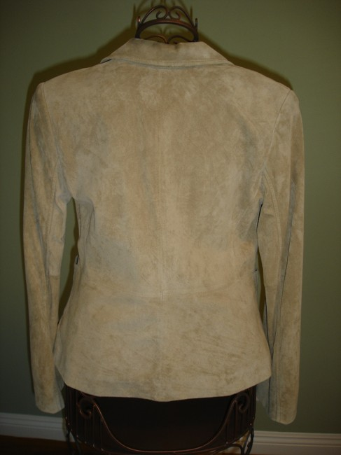 Ann Taylor LOFT Leather Suede Lined tan Blazer