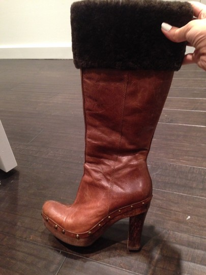 Kenneth Cole Leather Brown Boots