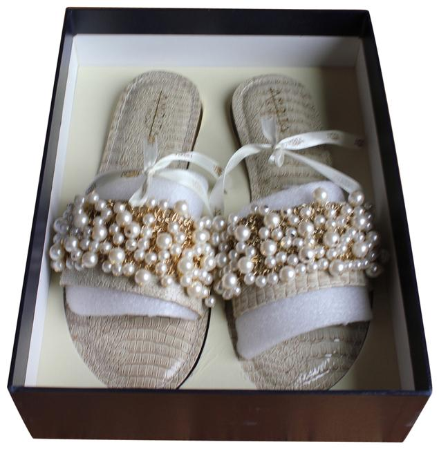 Item - Pearl Box Rare Amazing Detail New In Sandals Size US 8
