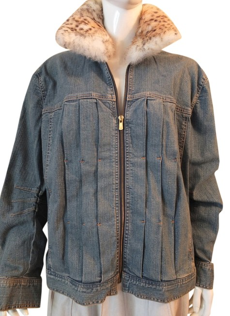 Dana Buchman blue denim Womens Jean Jacket