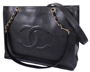 Chanel Vintage Classic Jumbo Tote in Black