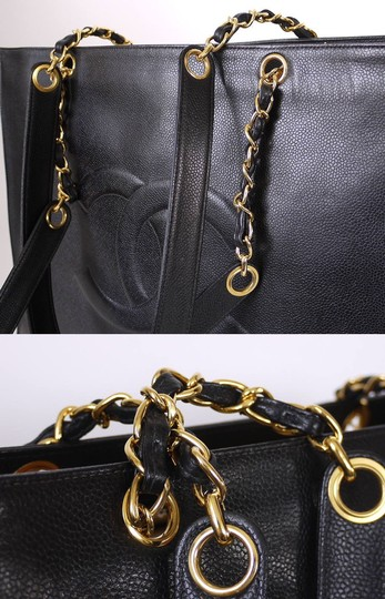553ab83e080f Chanel Vintage Classic Jumbo Overnighter Weekender Xl Shoulder Tote in Black  Image 8