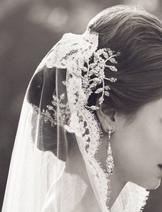 Maria Elena Headpieces Swarovski Crystal And Pearl Bridal Headpiece