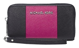 Michael Kors Michael Kors Jet Set Travel Stripe Saffiano Leather Phone Wristlet