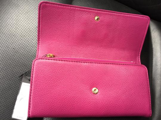 Marc by Marc Jacobs Marcbymarc Wallet Trifold Leather Pink Fuchsia Clutch
