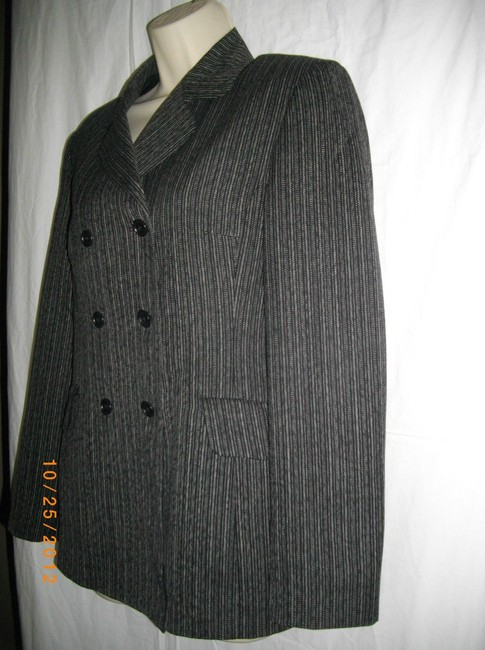 Sisley Double Breasted Stripes Military Jacket