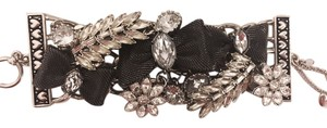 Betsey Johnson Bow Crystal Toggle Bracelet