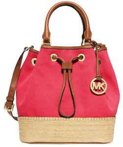 Michael Kors Canvas Tote in Watermelon