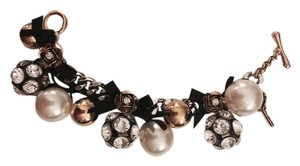 Betsey Johnson Pearl and Fireball Bracelet