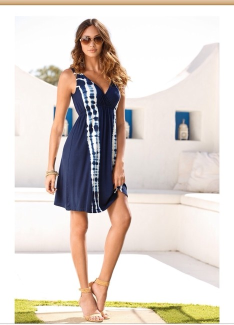 Boston Proper short dress Blue on Tradesy