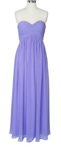 Purple Strapless Sweetheart Long Chiffon Size:[10] Dress