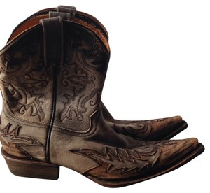 Stetson Gray/brown/black Boots