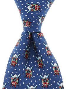 Vineyard Vines Vineyard Vines Tie Navy Oars and Wreath NEW IN BOX