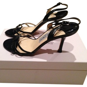 Jimmy Choo Black Leather Sandals