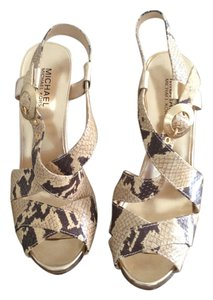 Michael Kors Gold Snake Skin Sandals