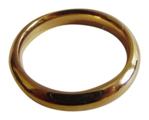 Other Stainless Steel Goldtone Band Ring Size 8