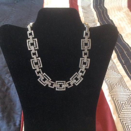 Other Pave Crystal Square Link Necklace