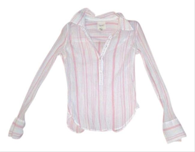 Abercrombie & Fitch Top white and pink