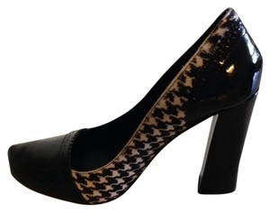 Tahari Black & White Patent Pumps