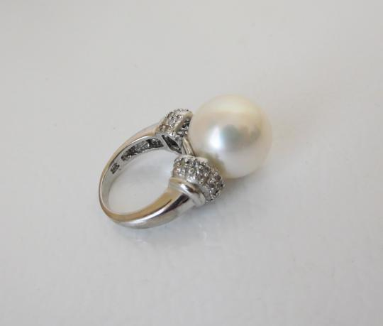 Pearlfection PearlfectionFaux White South Sea Pearl Cocktail Ring Size 7