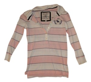 Abercrombie & Fitch T Shirt pink, white, navy