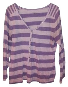 Old Navy Striped T Shirt Purple