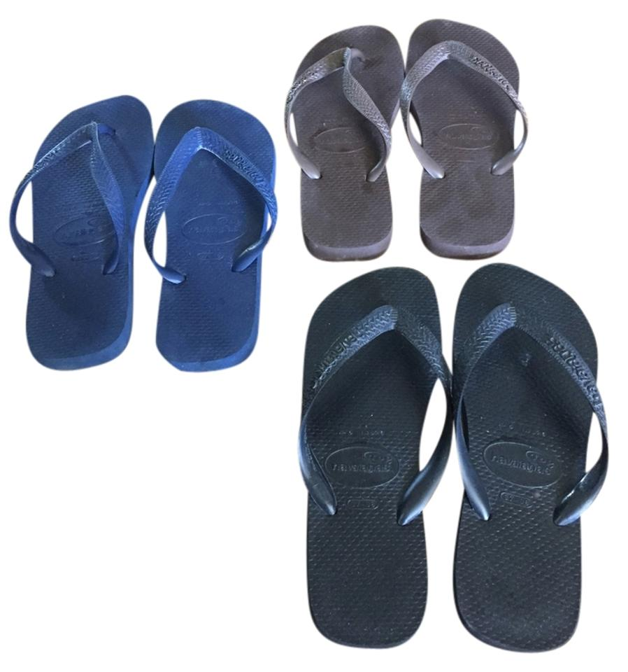 c99415f12fc0 Havaianas Black Navy Brown Classic Style Flip Flop - 3 Pairs Sandals ...