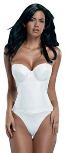 Merry Modes Flattering Me Longline Bra Bustier 780NS White Size 34C