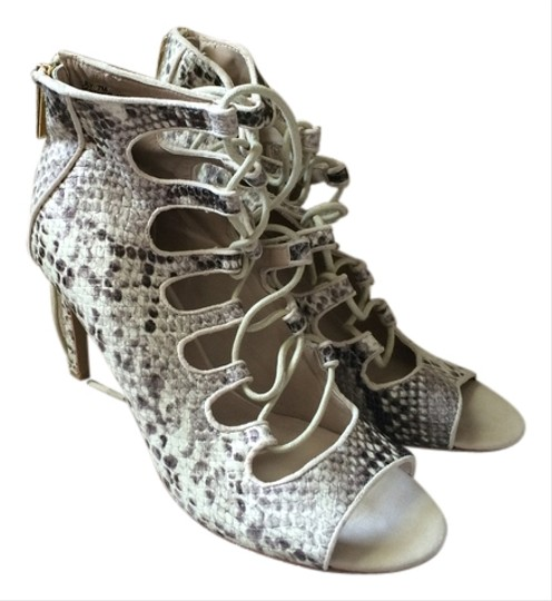 Obsession Rules White Snakskin Sandals