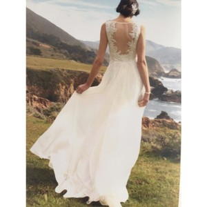 David's Bridal Feminine Wedding Dress Size 4 (S)