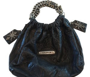 Thomas Wylde Leather Tote Chain Rocker Hobo Bag
