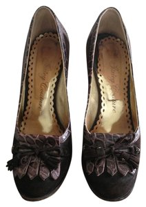 Juicy Couture Brown Suede Pumps