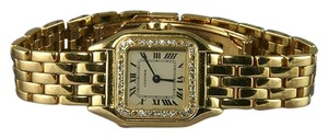 Cartier 18 K GOLD CARTIER DIAMONDS WOMEN'S PANTHERE WATCH RARE VINTAGE