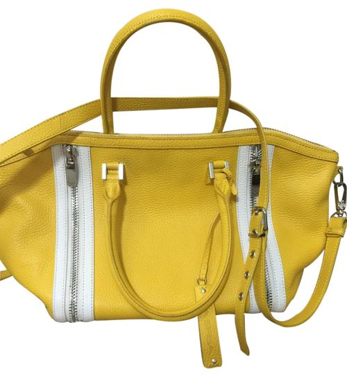 Preload https://item5.tradesy.com/images/via-spiga-stef-shine-large-satchel-yellow-with-white-trimming-genuine-leather-cross-body-bag-5286859-0-0.jpg?width=440&height=440