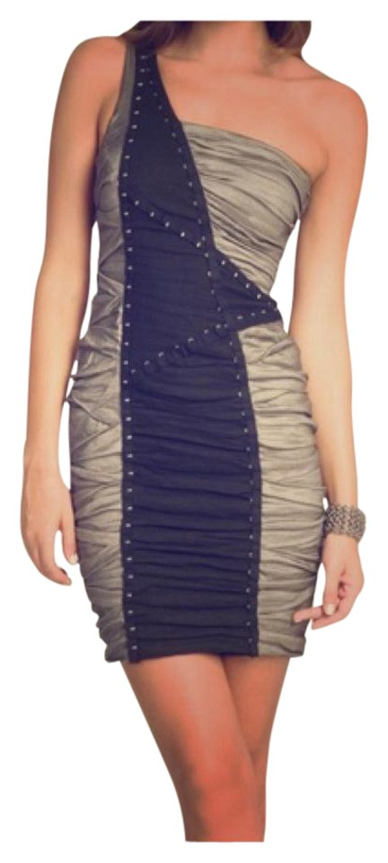 271ce9dda5a Nicole Miller Black and Pewter Above Knee Cocktail Dress Size 2 (XS ...