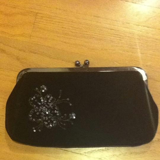 Express Black With Silver Clutch
