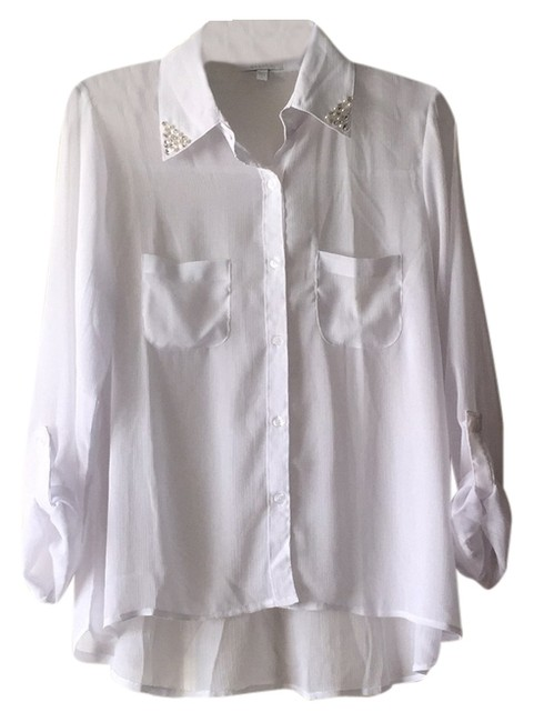 dELiA*s Button Down Shirt White