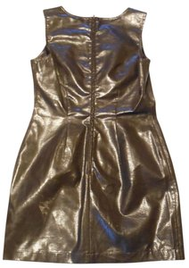 Moschino short dress Brown Made In Italy Leather on Tradesy