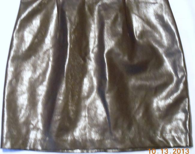 Moschino short dress Brown Made In Italy Leather Faux Mini Embossed Croc on Tradesy
