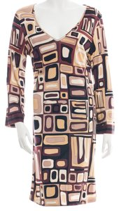 Emilio Pucci V-neck Print Longsleeve Dress