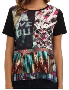 Hale Bob Graffiti Graphic Print T Shirt Multicolored