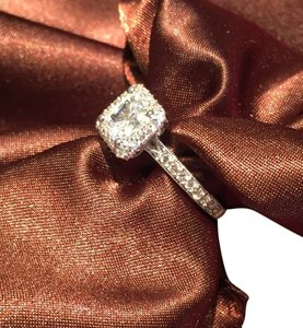 Tacori Tacori 18k White Gold Semi Mount Ring # HT 2522 PR Size 6.5