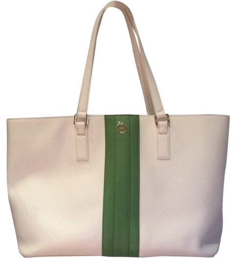 Tory Burch Tote in White/Green