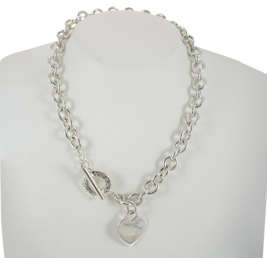 2a7907126 Tiffany & Co. Tiffany & Co. Sterling Silver Heart Tag Charm Toggle Necklace  with ...