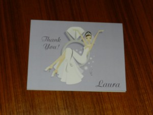 Purple Wedding Shower Thank You Cards