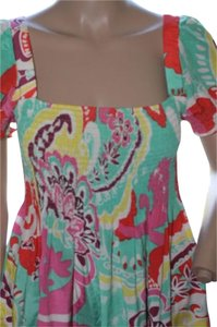 Boston Proper short dress bright vivid tropical colors on Tradesy